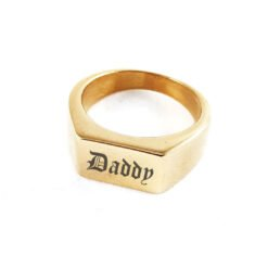 Sebastian Personalised Gold Ring