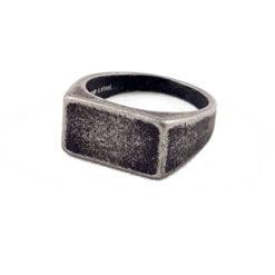 Sebastian Personalised Gunmetal Ring