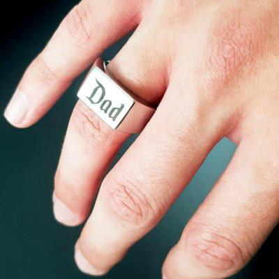 Sebastian Personalised Silver Ring