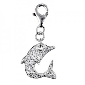 Crystal Sterling Silver Dolphin