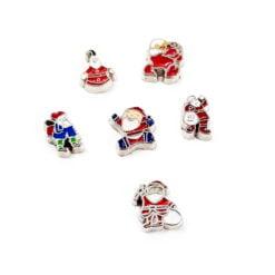 Santa Floating Charms