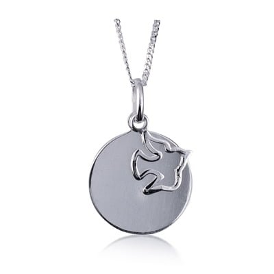 Personalised Dove Pendant Necklace