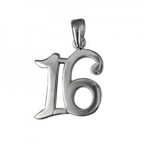 Sterling silver 16th Pendant