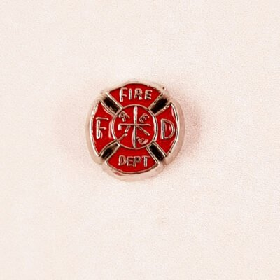 Fire Dept Floating Charm
