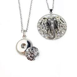 Snap Button Necklaces
