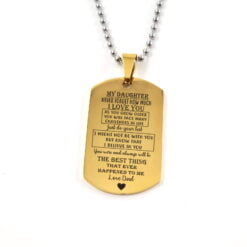 Daughter Army Dog Tag