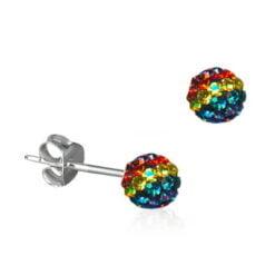 Rainbow Ball Earrings