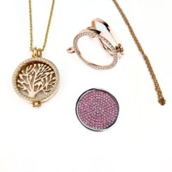 Crystal Coin Lockets