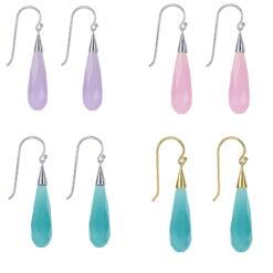 Briolette Obsidian Earrings