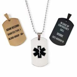 Medical Army Dog Tags