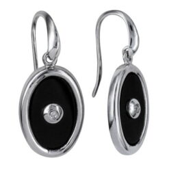 Oval Onyx Earwires